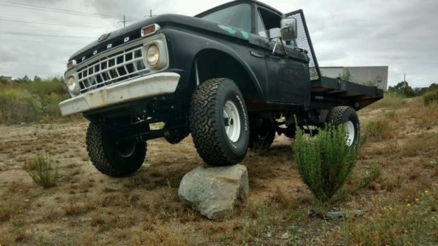 1965 ford truck F100 flat bed 4wd 4x4 flatbed pickup ...