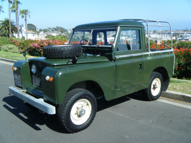 1965 land rover series 2a iia factory pickup pick up truck extremely rare for sale photos. Black Bedroom Furniture Sets. Home Design Ideas