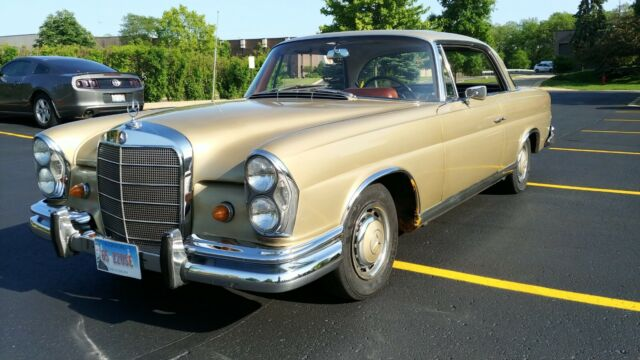 1965 Tunis Beige Mercedes-Benz 220SEb Coupe with Black interior