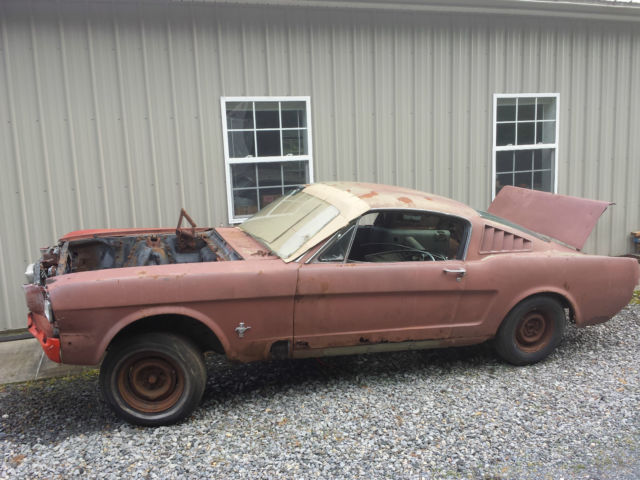 1965 mustang fastback project roller for sale photos technical specifications description. Black Bedroom Furniture Sets. Home Design Ideas