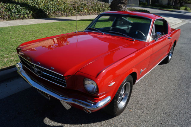 1965 Ford Mustang 289/225HP A CODE 4 SPD 2+2 FASTBACK COUPE!