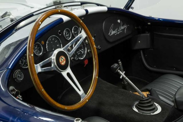 1965 Blue Shelby Cobra Convertible with Black interior