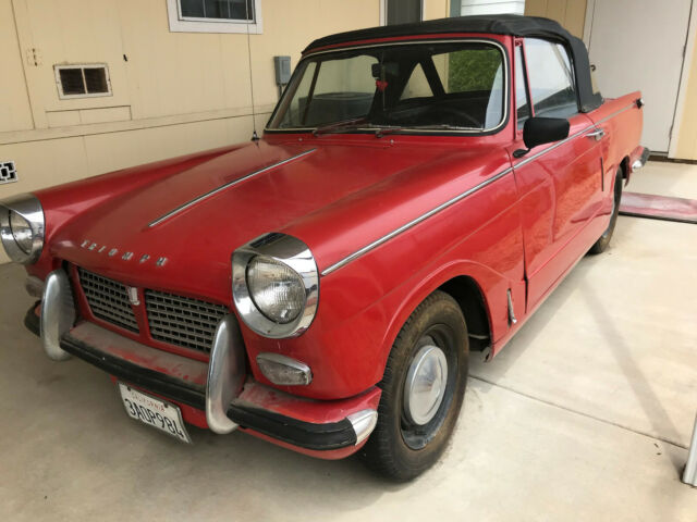 Super 1965 Triumph Herald 1200 convertible for sale: photos, technical  EW05