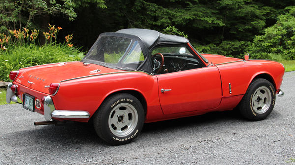 1965 Triumph Spitfire Convertible Red With Black Interior For Sale