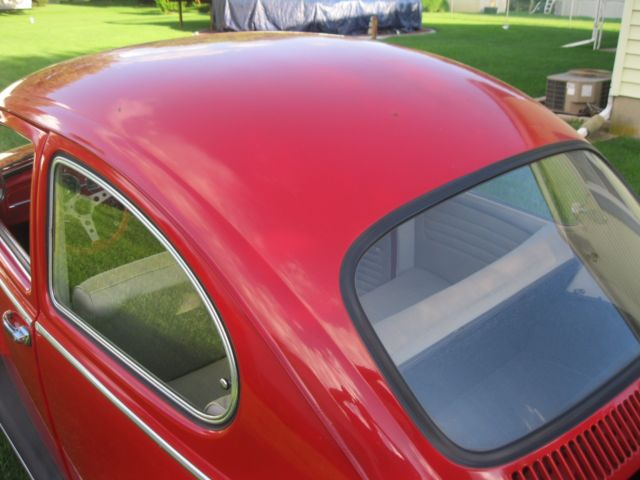 1965 Red Volkswagen Beetle - Classic Coupe with Gray interior