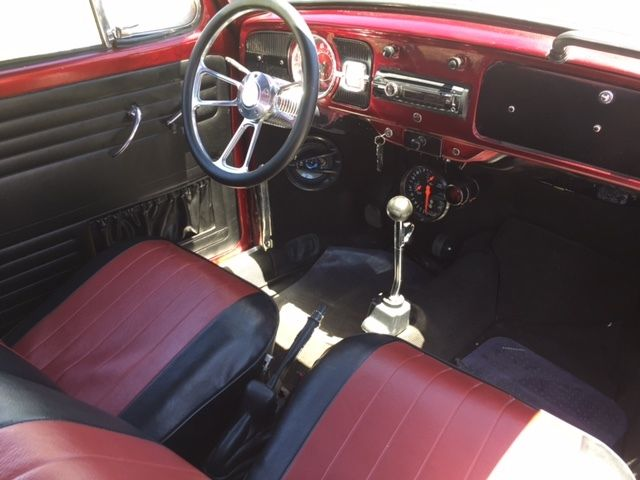 1965 diablo red Volkswagen Beetle - Classic coupe Coupe with Black interior