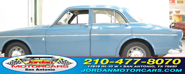 1965 Blue Volvo 122S with Tan interior
