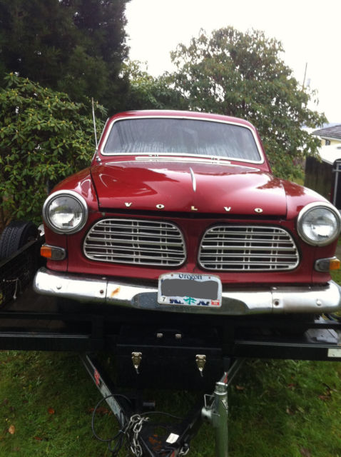 1965 Red Volvo Wagon 220 Wagon with Black interior