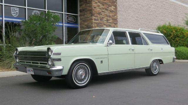1966 AMC 990 Ambassador Wagon 70000 Miles Green Wagon 327 A for ...