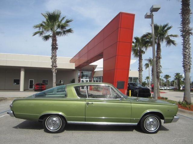 1966 BARRACUDA CUDA 225 SLANT SIX CITRON METALLIC NO RUST for sale
