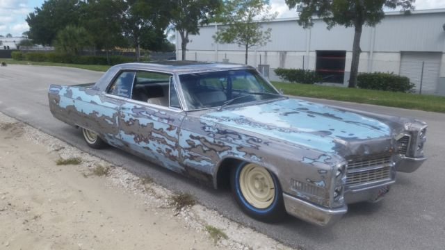 1966 Cadillac Coupe deVille rat rod for sale photos technical