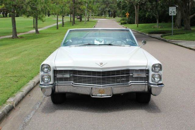 1966 cadillac deville convertible 37 519 miles white. Black Bedroom Furniture Sets. Home Design Ideas