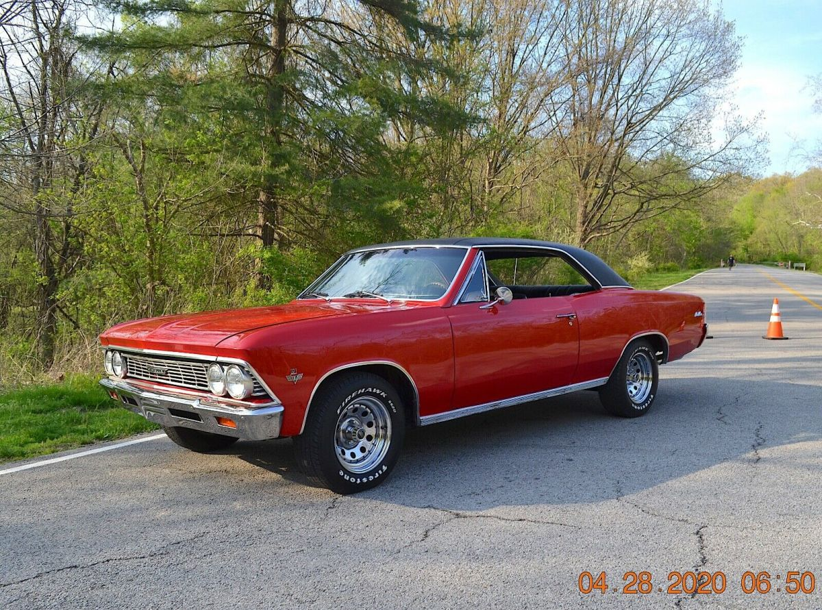1966 Chevrolet Chevelle V8 SPORT COUPE AUTO12 BOLT PS PDB BUCKETS CONSOLE