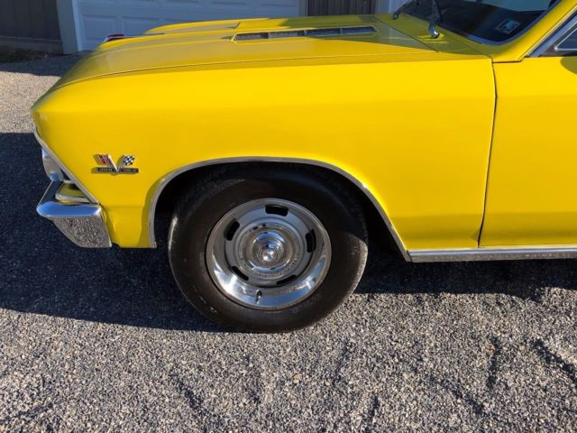 1966 Yellow Chevrolet Chevelle Coupe with Black interior