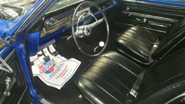1966 Blue Chevrolet Chevelle Coupe Coupe with Black interior
