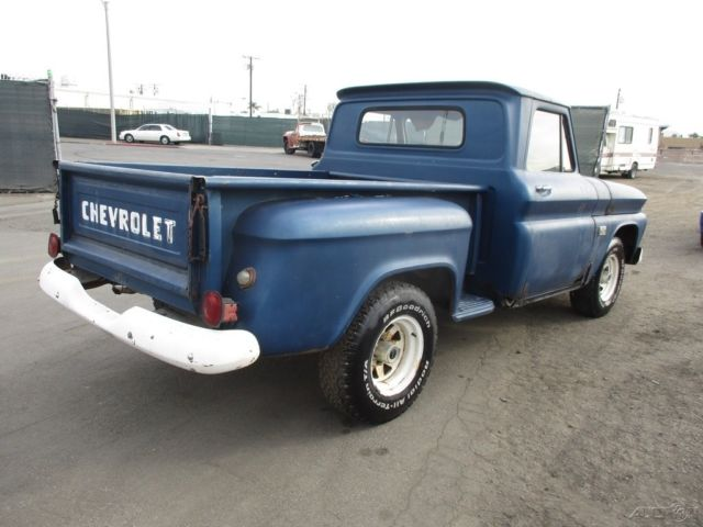 1966 Blue Chevrolet C-10 Pickup Truck with Blue interior