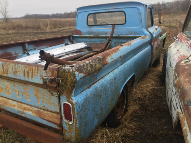 1966 Blue Chevrolet C-10 C20 Extended Crew Cab Pickup with Black interior