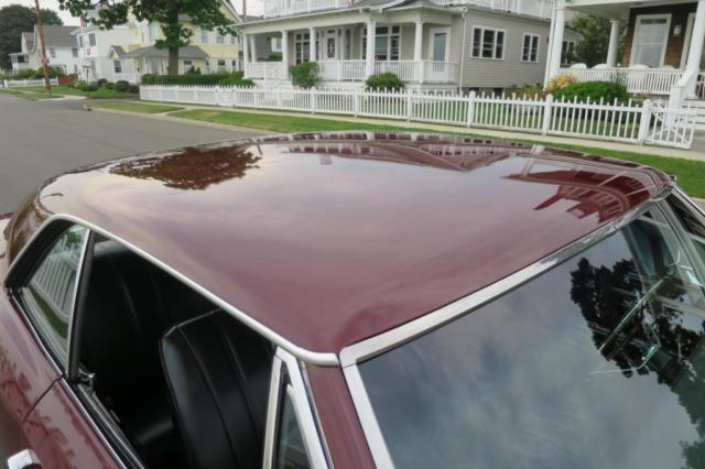1966 Burgundy Chevrolet Chevelle Coupe with Black interior