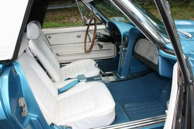 1966 Nassau Blue Chevrolet Corvette Convertible with White interior