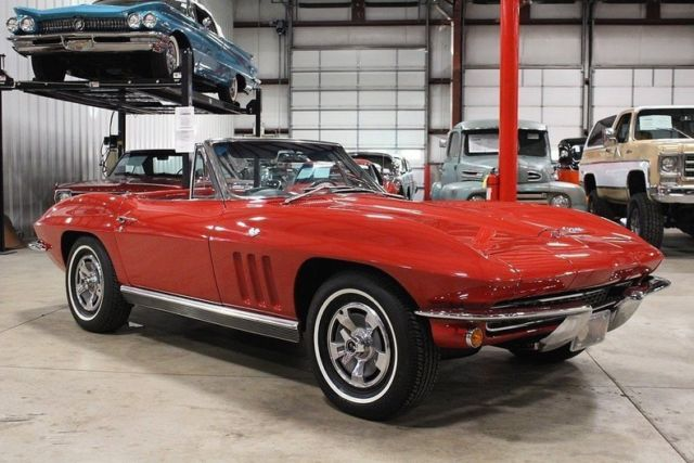1966 Red Chevrolet Corvette Stingray Convertible with Black interior