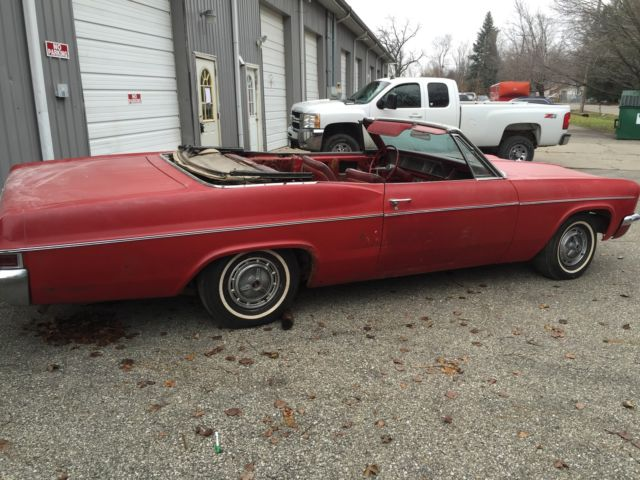 1966 Chevrolet Impala convertible SS Survivor 396 auto real red