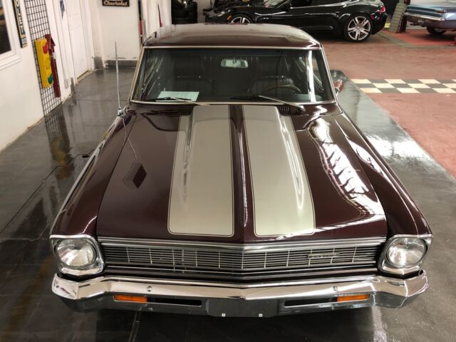1966 Burgundy Chevrolet Nova -CHEVY II-2INCH COWL-PRO TOURING-SEE VIDEO Coupe with Black interior
