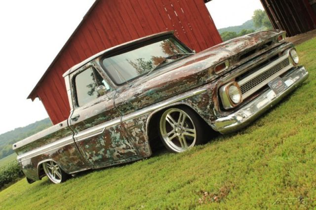 Chevy C10 Pickup For Sale 1966 Chevy C10 Short Bed Fleet Side,350,PS,PDB,Air Ride,Patina,Rat Rod ...