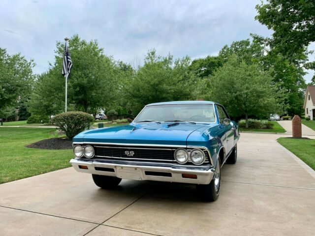 1966 Marina Blue Chevrolet Chevelle Coupe with Black interior