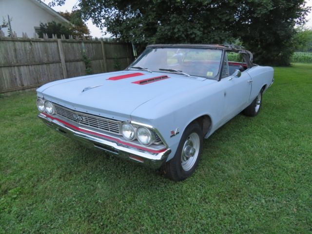 1966 Chevy Chevelle Ss 396 Convertible With A C Project Barn Find 138 Car Bbc