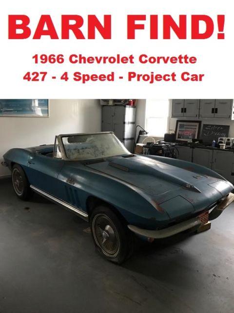 1966 Corvette Big Block 427 4 Speed Project - 1963 1964 1965