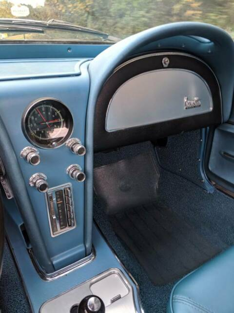 1966 Green Chevrolet Corvette Convertible with Green interior