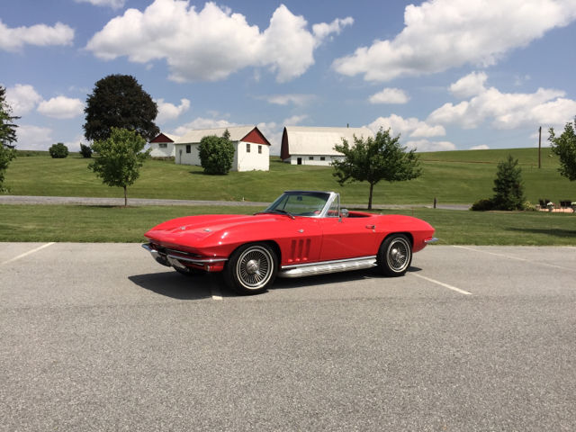 1966 Chevrolet Corvette Red/Black #S Matching 327Ci/300Hp 4-Speed Conv