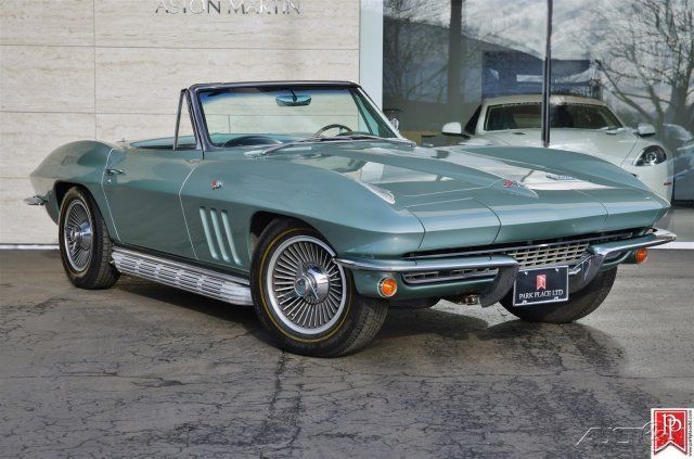 1966 corvette stingray convertible 4 speed mosport green over black for sale photos. Black Bedroom Furniture Sets. Home Design Ideas