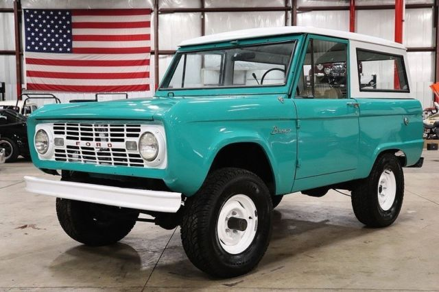 1966 Ford Bronco 51312 Miles Teal SUV 6 Cylinder 3 Speed