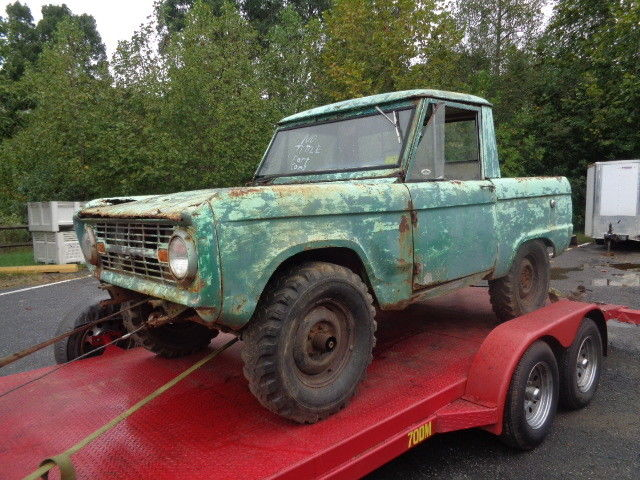 8b6c917d42 1966 FORD BRONCO HALF CAB 3 Speed Pickup 6 CYLINDER FIRST YEAR OF THE BRONCO