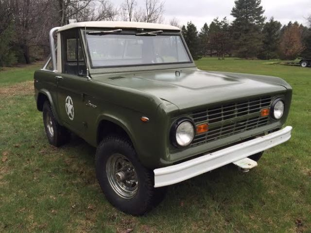 801a55b8eb 1966 FORD BRONCO U15 HALF CAB CLONE 6 CYLINDER RUNS GREAT 3 ON TREE NO  RESERVE for sale  photos