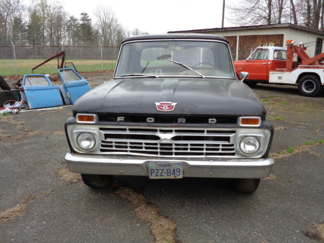 1966 ford f 100 custom short bed pickup truck 352 engine for Ford truck motors for sale
