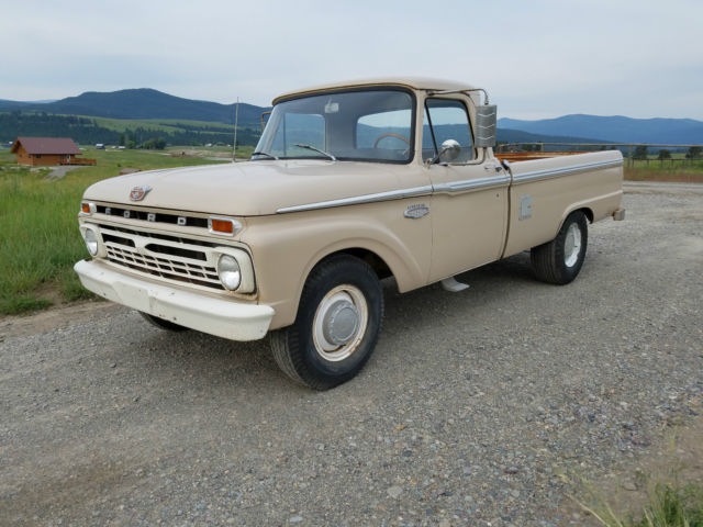 1966 ford f 250 pickup truck nice straight rust free. Black Bedroom Furniture Sets. Home Design Ideas