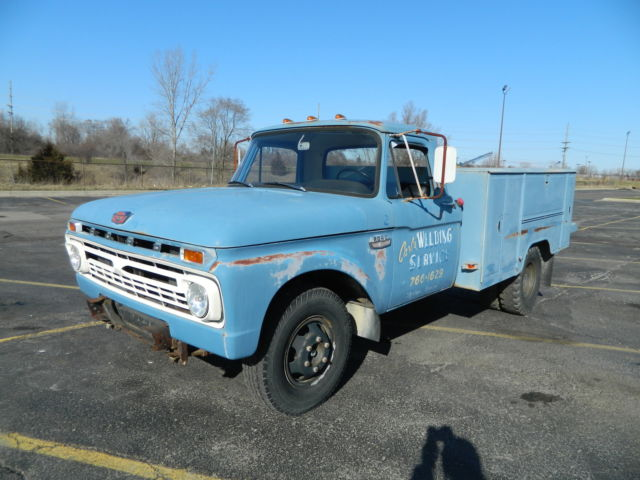 1966 ford f350 truck dually 352 fe utility box f100 f250. Black Bedroom Furniture Sets. Home Design Ideas
