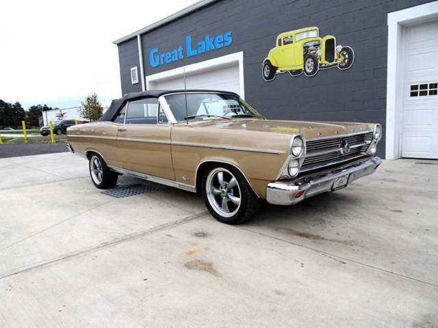 1966 Gold Ford Fairlane XL Convertible with Black interior