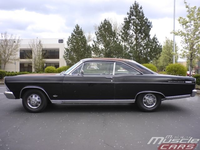 1966 Ford Fairlane XL 2 Owner Muscle Classic Factory Black For