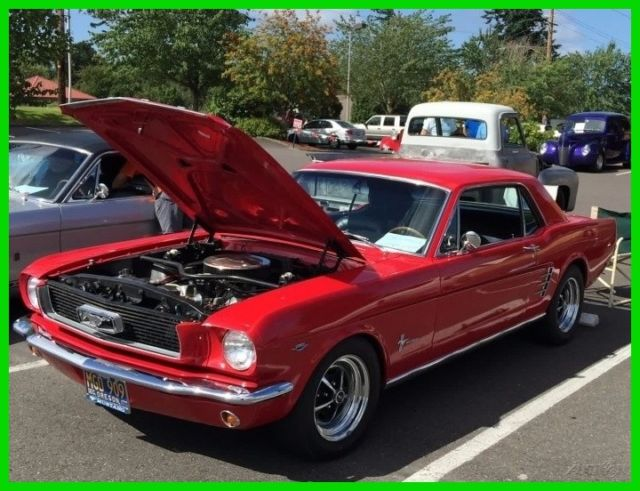 1966 Ford Mustang 2-Door Restored 289ci V8, 5-Speed Manual Transmiss