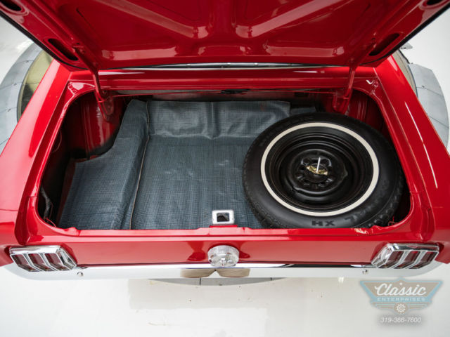 1966 Red Ford Mustang Convertible 289 V8 4V Automatic Convertible with Black interior