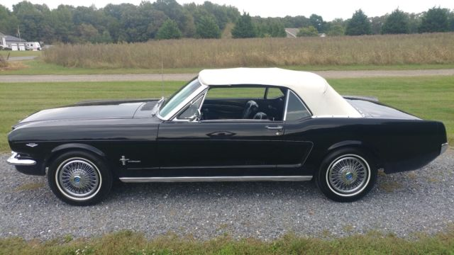 1966 Black Ford Mustang Convertible with Black interior