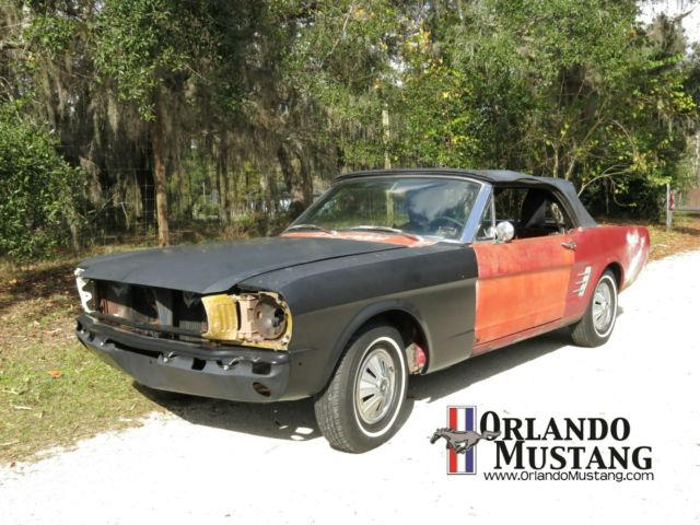 1966 Ford Mustang Convertible Project Car 289 V8 A T C4 Candy Apple