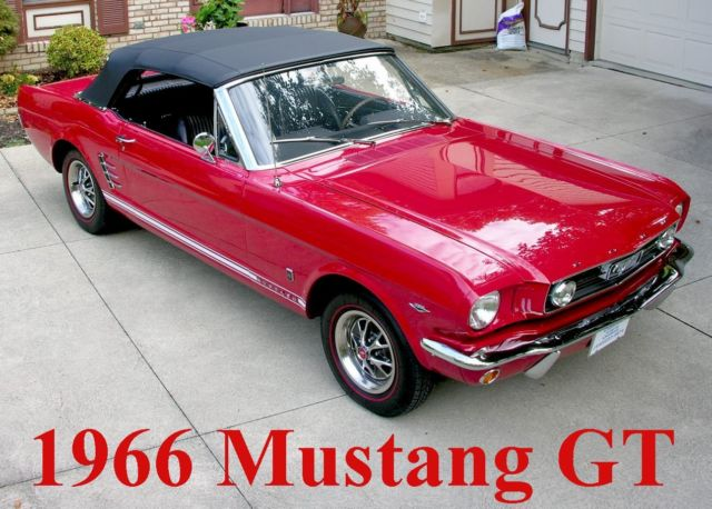 1966 Ford Mustang GT Convertible - Restored