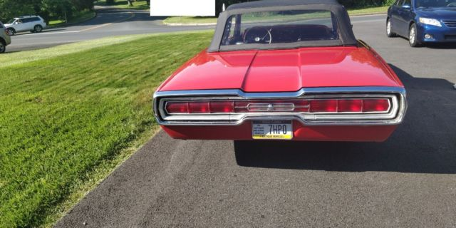 1966 Red Ford Thunderbird Convertible with Black interior