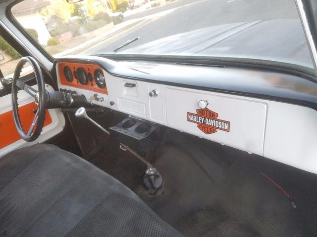 1966 GMC 1000 HARLEY SHOP TRUCK with 350/350 V8 LOKAR SHIFTER CLEAN