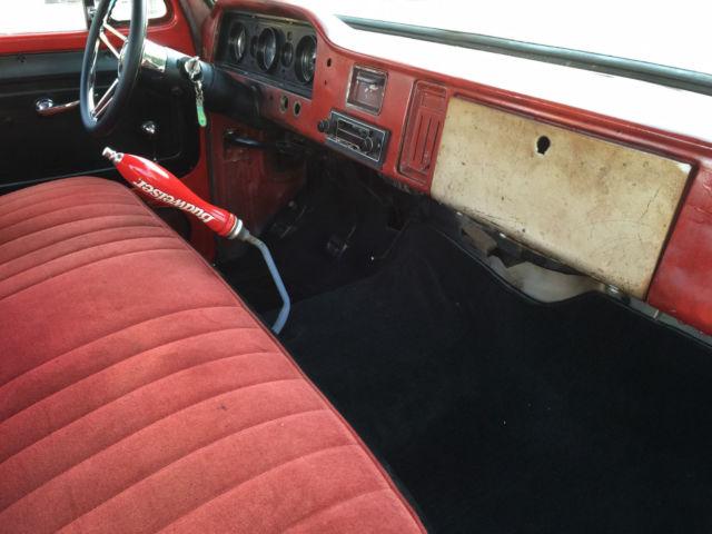 1966 GMC C10 big back window short bed patina shop truck