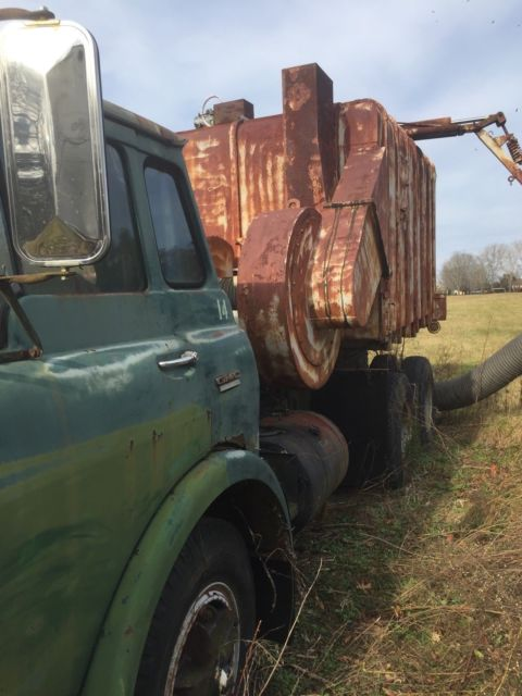 1966 green GMC cabover